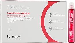 Profumi e cosmetici Filler idratante alla ceramide per capelli - FarmStay Ceramide Damage Clinic Hair Filler