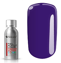 Profumi e cosmetici Acrilico per unghie - Silcare Nail Acrylic Liquid Medium Action Color