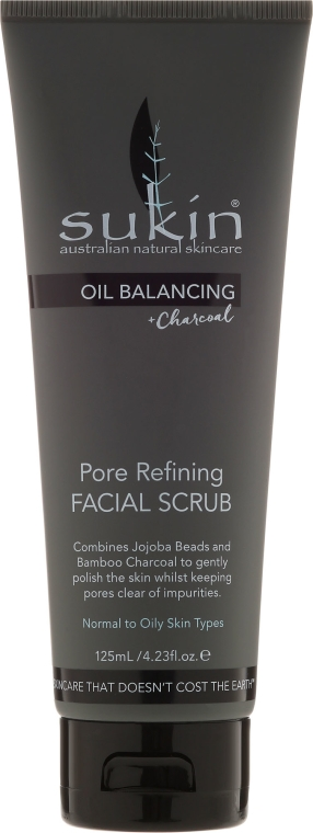 Scrub viso - Sukin Oil Balancing Plus Charcoal Pore Refining Facial Scrub