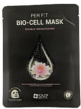 Profumi e cosmetici Maschera in biocellulosa con estratto di loto ed estratto di glutatione - SNP Brightening Bio-cell Mask
