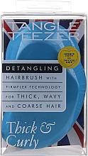 Profumi e cosmetici Spazzola per capelli spessi e ricci, blu - Tangle Teezer Thick & Curly Azure Blue
