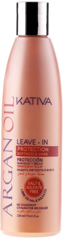Condizionante capelli senza risciacquo con olio di argan - Kativa Argan Oil Leave-In Protection Softness & Shine
