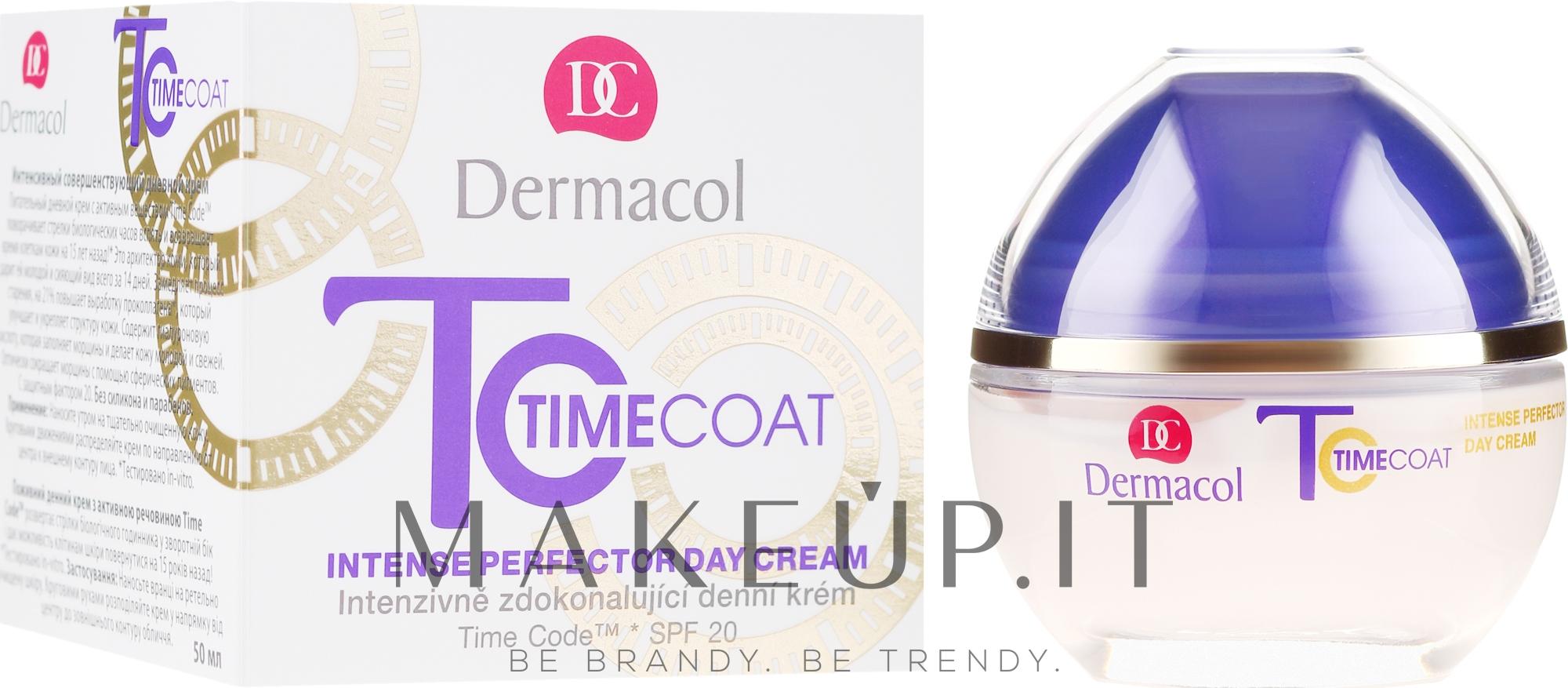Crema viso, da giorno - Dermacol Time Coat Intense Perfector Day Cream SPF 20 — foto 50 ml
