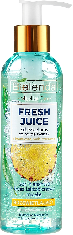 Gel micellare idratante - Bielenda Fresh Juice Micellar Gel Pineapple