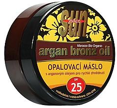 Profumi e cosmetici Olio abbronzante - Vivaco Sun Argan Bronze Oil Tanning Butter SPF 25