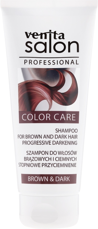 Shampoo per capelli castani - Venita Salon Professional Dark & Brown Shampoo