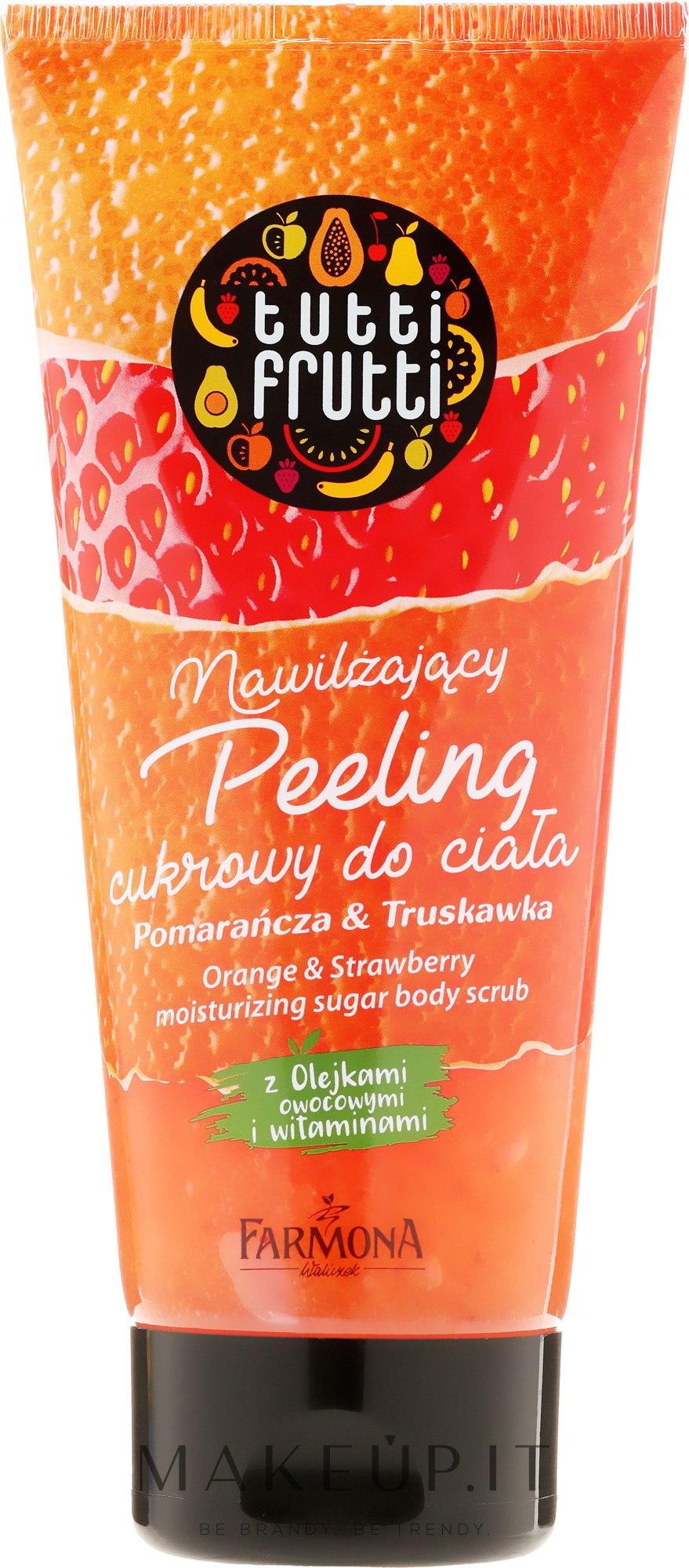"""Scrub corpo allo zucchero """"Arancio e fragola"""" - Farmona Tutti Frutti Sugar Body Scrub Orange & Strawberry — foto 210 g"""