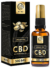 Profumi e cosmetici Olio di Argan naturale CBD 500mg - Dr. T&J Bio Oil