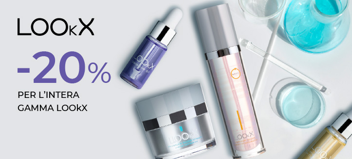 -20% di sconto su tutta la gamma di prodotti LOOkX. I prezzi sul nostro sito comprendono gli sconti