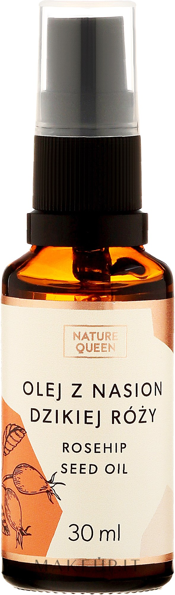 """Olio cosmetico """"Rosa canina"""" - Nature Queen Rosehip Seed Oil — foto 30 ml"""
