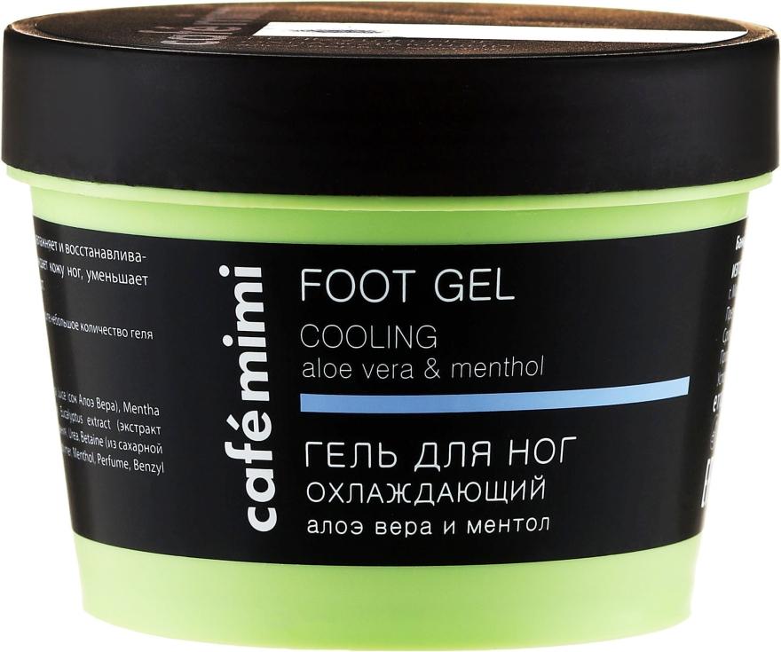 """Gel per piedi """"Rinfrescante"""" con aloe vera e mentolo - Cafe Mimi Foot Gel Cooling Aloe Vera & Menthol"""