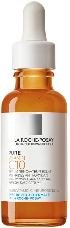 Siero viso antiossidante antirughe - La Roche-Posay Pure Vitamin C10 Anti-Wrinkle Anti-Oxidant Renovating Serum