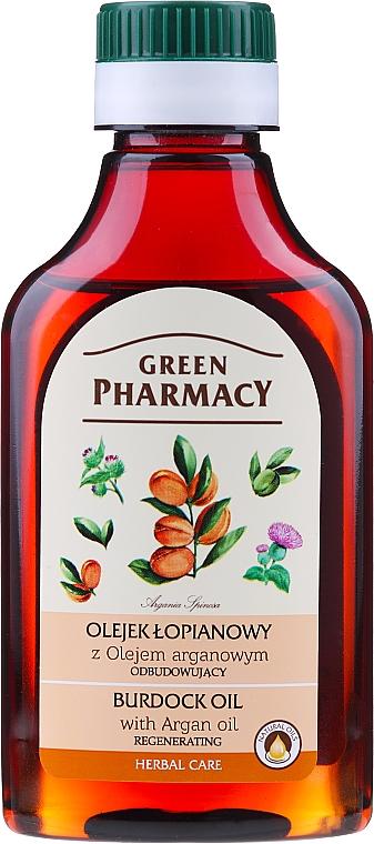 Olio di bardana con olio di argan per capelli - Green Pharmacy