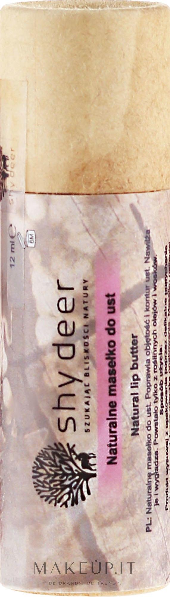 Olio naturale per le labbra - Shy Deer Natural Lip Butter — foto 12 ml