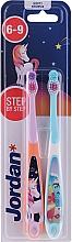 Profumi e cosmetici Spazzolino da denti per bambini, 6-9 anni, unicorno e delfino - Jordan Step By Step Soft