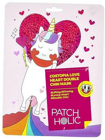 Maschera rassodante per il doppio mento - Patch Holic Costopia Love Heart Double Chin Mask — foto N1