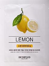 Profumi e cosmetici Maschera per il viso - SkinFood Beauty in a Food Mask Sheet Lemon