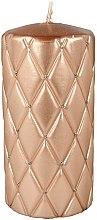 Profumi e cosmetici Candela decorativa, 7x14 cm, oro-rosa - Artman Florence Candle