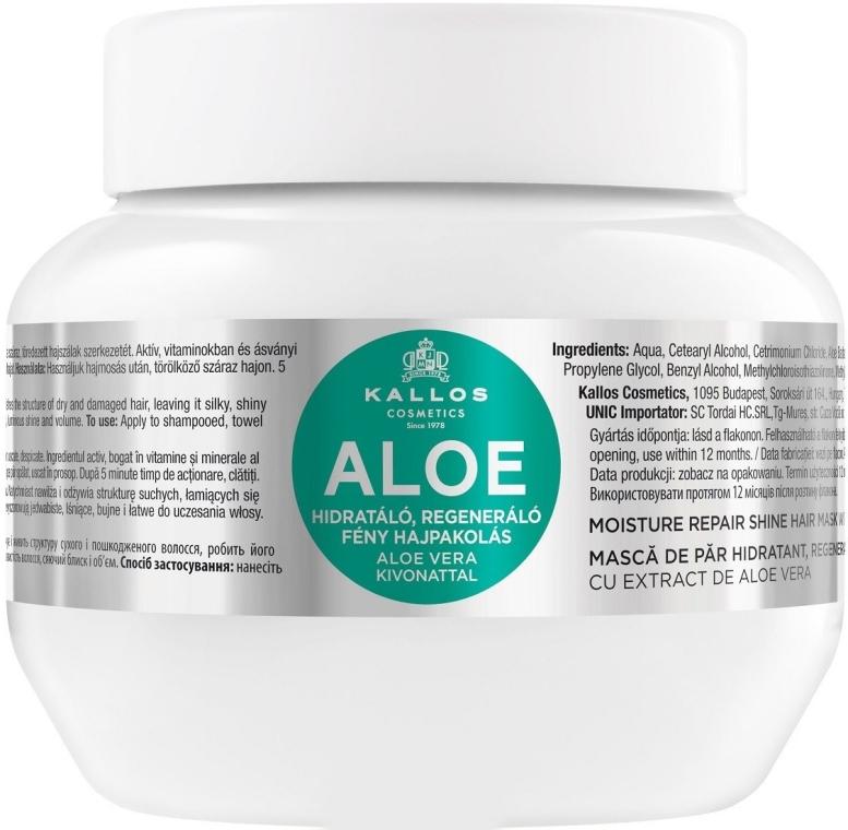 Maschera rigenerante all'aloe per i capelli - Kallos Cosmetics Moisture Repair Aloe Hair Mask