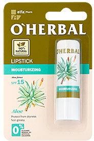 Rossetto idratante con estratto di aloe - O'Herbal Moisturizing Lipstick With Aloe Vera extract SPF15 — foto N1