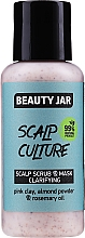 Profumi e cosmetici Maschera scrub purificante per cuoio capelluto - Beauty Jar Scalp Culture Scrub & Mask