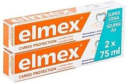 Profumi e cosmetici Set - Elmex Toothpaste Caries Protection (toothpaste/2x75ml)