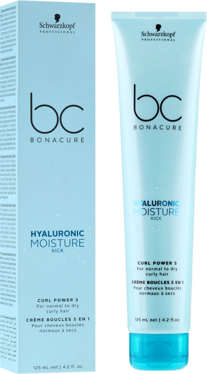 Crema idratante per capelli ricci - Schwarzkopf Professional Bonacure Hyaluronic Moisture Kick Curl Power 5