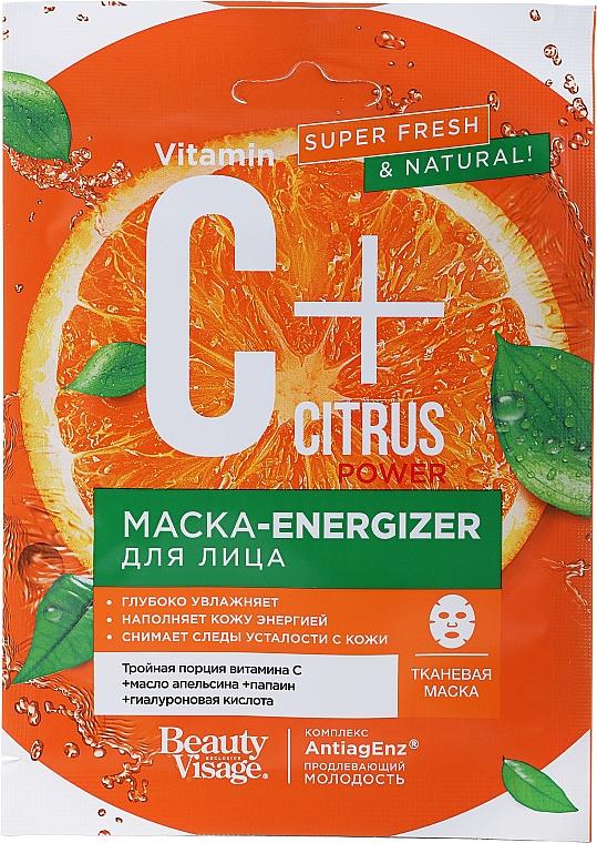 Maschera viso in tessuto - FitoKosmetik Vitamin C + Citrus Power