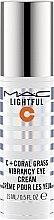 Profumi e cosmetici Crema contorno occhi - M.A.C Lightful C + Coral Grass Vibrancy Eye Cream