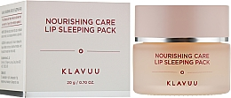 Profumi e cosmetici Maschera labbra, da notte - Klavuu Nourishing Care Lip Sleeping Pack