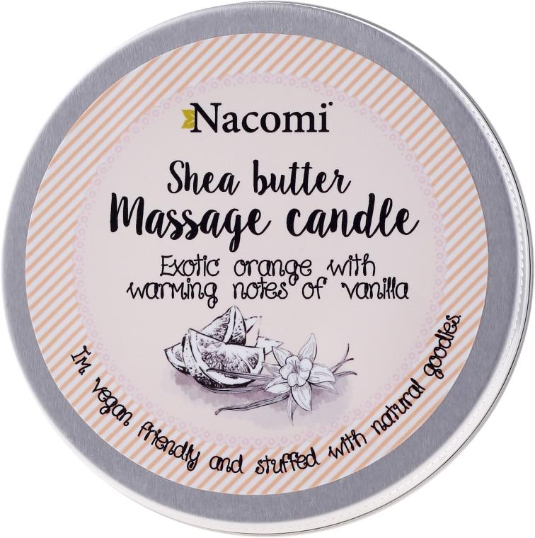 """Candela da massaggio con burro di karité """"Arancio e vaniglia"""" - Nacomi Shea Butter Massage Candle — foto N1"""