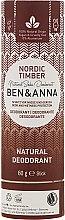 """Profumi e cosmetici Deodorante """"Foresta del Nord"""" (cartone) - Ben & Anna Natural Soda Deodorant Paper Tube Nordic Timber"""