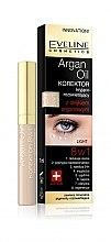Profumi e cosmetici Correttore illuminante contorno occhi, all'olio di argan 8in1 - Eveline Cosmetics Argan Oil