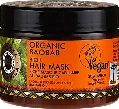 Profumi e cosmetici Maschera capelli rinforzzante - Planeta Organica Organic Baobab Rich Hair Mask
