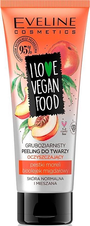 "Peeling viso ""Olio di albicocche e mandorle"" - Eveline I Love Vegan Food Face Peeling — foto N1"