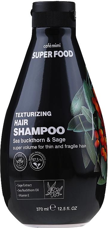 Shampoo ispessente all'olivello spinoso e salvia - Cafe Mimi Super Food Shampoo