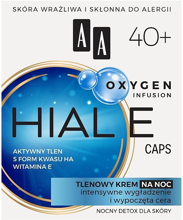 Crema viso all'ossigeno 40+, da notte - AA Oxygen Infusion Hial E Caps Night Cream — foto N1