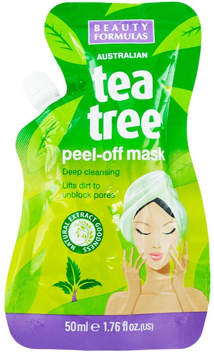Maschera viso - Beauty Formulas Tea Tree Peel-Off Mask