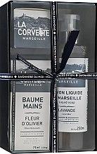 """Profumi e cosmetici Set regalo - La Corvette """"Provence"""" (soap/100g + soap/250ml + h/cr/75ml)"""