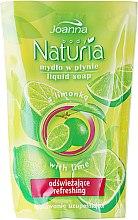 """Profumi e cosmetici Sapone liquido """"Lime"""" (ricarica) - Joanna Naturia Body Lime Liquid Soap (Refill)"""