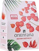 Profumi e cosmetici Set - Orientana Papaya (f/cr/40ml + f/peeling/50ml + eye/mask/1pad)