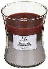 Profumi e cosmetici Candela profumata in bicchiere - WoodWick Hourglass Trilogy Candle Forest Retreat
