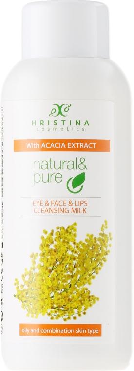 "Latte detergente per pelli miste e grasse ""Acacia"" - Hristina Cosmetics Cleansing Milk With Accacia Extract"