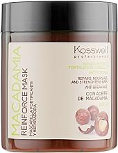 Profumi e cosmetici Maschera rassodante all'olio di macadamia - Kosswell Professional Macadamia Reinforce Mask