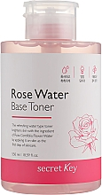 Profumi e cosmetici Tonico all'acqua di rose - Secret Key Rose Water Base Toner