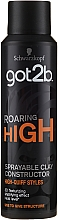 Profumi e cosmetici Argilla-spray modellante per capelli - Schwarzkopf Got2b Roaring High Sprayable Clay Constructor