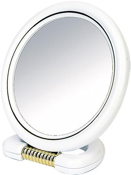 Specchio bilaterale, con supporto, bianco, 18,5 cm - Donegal Mirror — foto N1