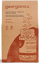 """Profumi e cosmetici Pillole-collutorio """"Menta"""" - Georganics Mouthwash Tablets Refill Pack Orange (ricambio)"""