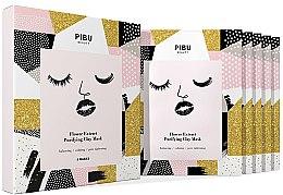 Profumi e cosmetici Set - Pibu Beauty Flower Extract Purifying Clay Mask Set (f/mask/5x18g)
