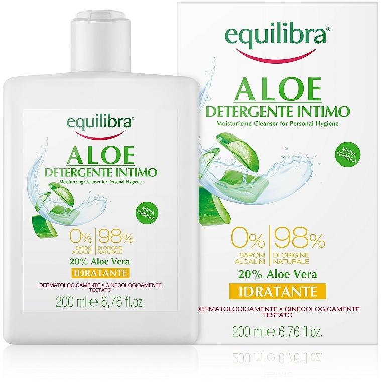 Gel detergente intimo idratante all'aloe - Equilibra Aloe Moisturizing Cleanser For Personal Hygiene